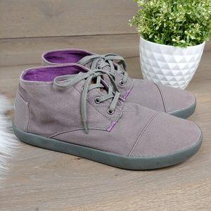 Toms Canvas Mens Chukka High Top Boots Purple